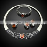 nigerian coral beads jewelry display set