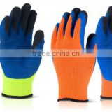 High quality gardening glove with good quality latex palm coated cotton work glove wholesale GL2075
