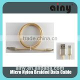 2015 new products china wholesale Ainy Nylon braided micro usb cable with Aluminum Alloy Housing