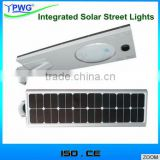 20W Integrated Solar Street Lights Microwave Smart Sensors led street lights                                                                         Quality Choice