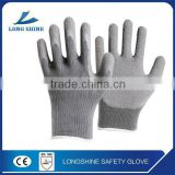 Latex coated wrinkled surface safety glove