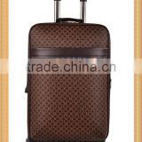 2015 China cheap luggage bag high quality PU travel luggage spinner trolley luggage suitcase