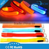 High Visibility LED Safety Sports Flashing Arm Bands Reflective LED Snap Band Reflective LED Slap