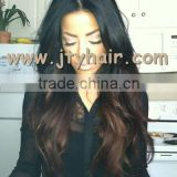 "Hot Beauty 20"" #1b#4 Ombre Color, Loose Wave, 100% Brazilian virgin hair Full lace wig"