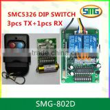 SMG-802D SMC5326P-3 dip switch Auto gate remote control transmitter and receiver                                                                         Quality Choice
