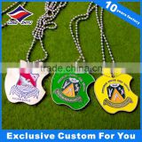 China factory supply metal stainless steel dog tags with ball chain