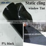 Hot Sales 5% Black Non-glue PVC Removable Static Cling Car Window Smart Tint Film
