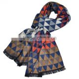 In stock checks cashmere feel 100% acrylic yarn dyed scarf 30x180cm