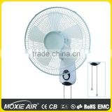 "16"" 5 transparent white blade oscillating wall fan                                                                         Quality Choice"