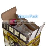 Yason bag in box for oil packing aluminum foil bag in box for fast food outlets packaging bag in box wine dispenser