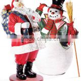 Newest fiberglass father Christmas for decorations