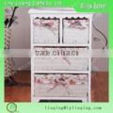Factory wholesale wooden wicker furniture / wicker drawer organizer cabinet