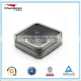small sq uare clear window candle tin can/ good price mint metal box / direct factory OEM tin box