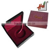 Hot sale Luxury Wooden Coin Medal Box For Display HCGB8168