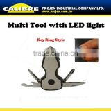 CALIBRE keyring mini tools with can bottle opener torch multi function tool with screwdriver