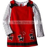 (CS807#)OEM Service Children Clothing 2pcs Baby girl set Polka Dot top and dress set 2pcs Baby girl set