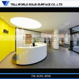 Acrylic Solid Surface Office Workstation Modern,White Lacquer Reception Desk,Hair Salon Reception Cashier Desks