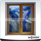 German style solid timber french casement window with double safety glass meet to AS2047, CE certificate