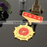 china producer cheap religious metal military commemorative medal with ribbon