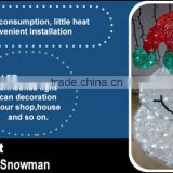 Fancy moving christmas snowman with high quality outdoor light up snowman Chinese snowman marker