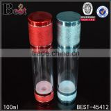 100ml cosmetic airless pump bottles, skin care airless pump bottle, matting airless bottle