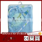 Top quality handmade velour cotton knitted baby blanket patterns