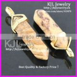 KJL-A0191 Natural Yellow Quartz Druzy stone Charm Crystal Healing Point Chakra Reiki Jewelry Agate Stone Pendant Bead