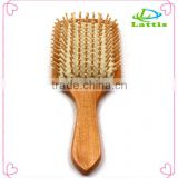 Wooden Handle Stainless Steel Pins Massage Hair Brush Comb
