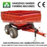 4 wheel tipper type small farm tractor trailer, trailer for hand tractor ,trailer for cars
