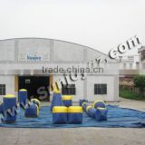 inflatable paintball bunker/ inflatable bunker air/ inflatable paint ball field Obstacle Wall Shooting Game Adult