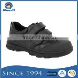 New Arrival TPR Outsole PU Lining Durable Boys Gender Black School Shoes