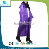 LADY BRIGHT COLOR FASHION WATERPROOF LONG PVC RAINCOAT