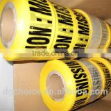 Wholesale custom pe warning tape