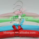 HEAD baby satin hangers colorful padded babay hanger silk clothing protect thick high quality