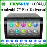 "7"" 2 din Android car dvd player for Universal with car gps navigation multimedia system radio bluetooth support mirror link"