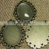flat on bottom, domed on top bulk glass cabochons for ring blanks, pendants, earrings // wholesale Clear glass domed tiles
