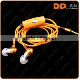 Best selling consumer electronics glowing headphones lighting EL wire earphone with mic for mp3