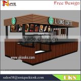 Starbucks coffee kiosk / 5m by 3m espresso kiosk design for shopping mall