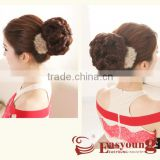 Wigs hair accessories, synthetic hair small curly hair buns hairpieces