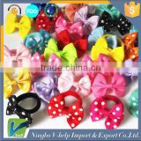 Sweet Solid Print Bow Elastic Hair ropes Kids Hair ties Adorable Ponytail Holder Hair Accessories