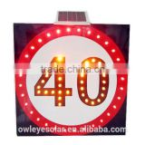 solar speed limited sign/solar traffic signal/led outdoor signal light