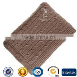 100% Pure Cable Knitted Cashmere Blanket