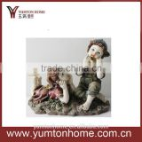 resin crafts decorative festival ornament angel figurines boy and girl statue