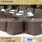 brown outdoor 8 seat rattan dining set table chair set(TC046)