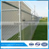 High quantity chain link fence cyclone fencing with top barbed wire
