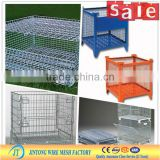 Foldable Steel Pallet Cage, Stackable Wire Container for warehouse storage (manufacturer)