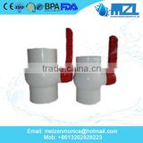 "1/2"" inch inch hot selling cheapest price PVC ball valve,pvc pipe fittings China factory"