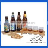 High Quality Wooden Bottle Holder Joint Cup Holder with Leg Pine and Beech Holder for Bar