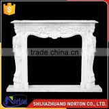 pure white marble fireplace mantel for high polished NTMF-F521X