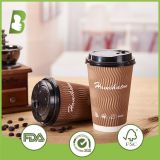 Disposable hot drinking 600ml double wall paper cup custom print